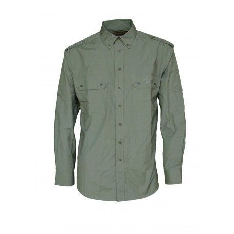 CAMISA SOLID GREEN  T/L