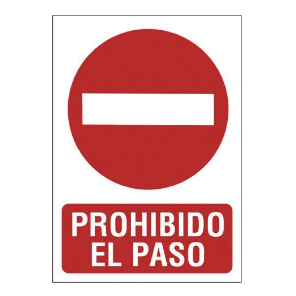 CARTEL SEÑALIZACION P/PASO 210X297 PVC