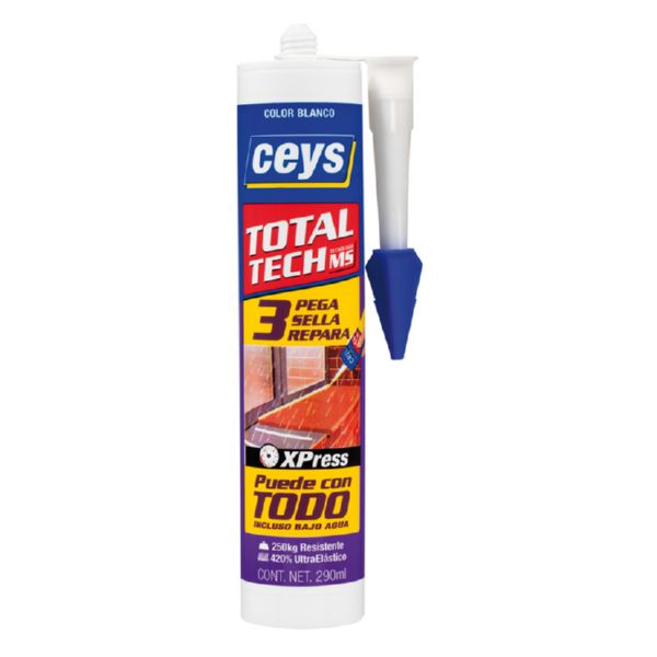 CEYS TOTAL TECH BLANCO CARTUCHO 290ML