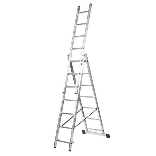 Escalera transformable aluminio 3x7 peldanos