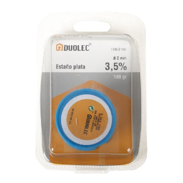 ESTAÑO PLATA 3,5% 2MM.100GR.DUOLEC