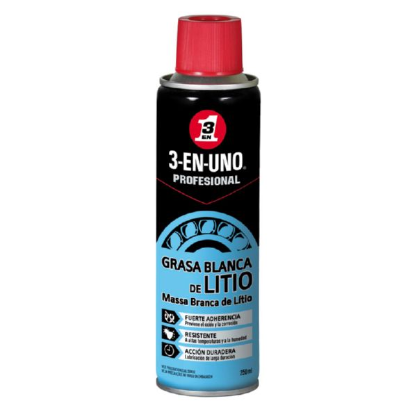 GRASA BLANCA LITIO 3EN1 250 ML SPRAY