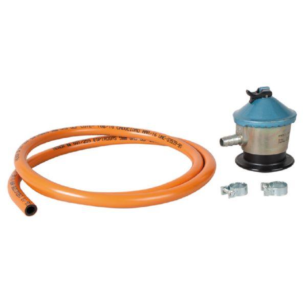 Kit butano regulador + abrazaderas + tubo 1,50 m Espirogas