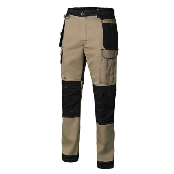 Pantalon canvas Stretch Beige/arena 240 gr/m2 10 bolsillos T/XL