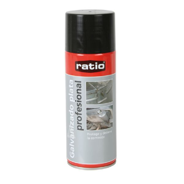 PINTURA SPRAY GALVANIZADO PLATA 400ML RATIO