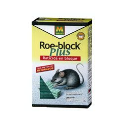 RATICIDA ROE-BLOCK PLUS 260 GR.