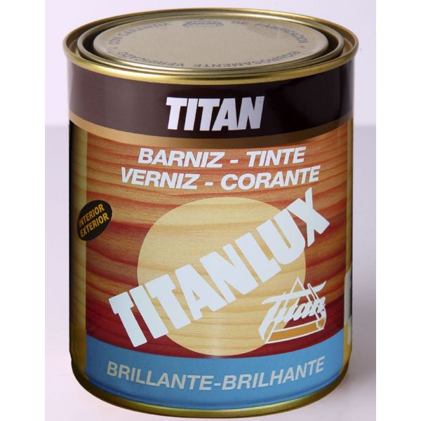 TITAN BARNIZ TINTE BRILLANTE NOGAL 750ML